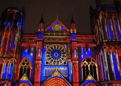 Cathedrale de Poitiers-Mapping-Azarek-Lumières féeriques-Cathédrale Saint Pierre 05