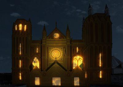 Cathédrale de Poitiers – Lumières féériques