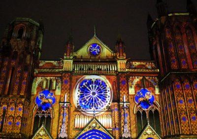 Cathedrale de Poitiers-Mapping-Azarek-Lumières féeriques-Cathédrale Saint Pierre 03