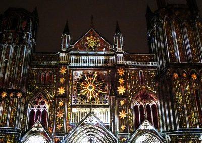 Cathedrale de Poitiers-Mapping-Azarek-Lumières féeriques-Cathédrale Saint Pierre 04