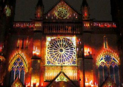 Cathedrale de Poitiers-Mapping-Azarek-Lumières féeriques-Cathédrale Saint Pierre 06