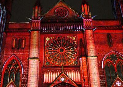 Cathedrale de Poitiers-Mapping-Azarek-Lumières féeriques-Cathédrale Saint Pierre 07