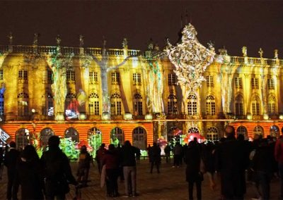 Nancy, place Stanislas, mapping, azarek, 04