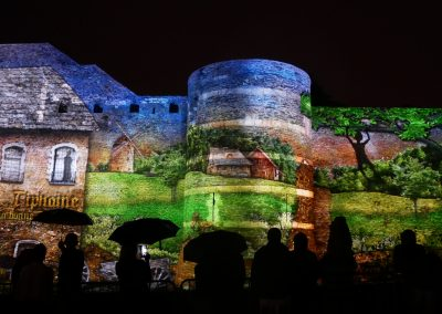 Angers, château d'Angers, mapping, azarek,2019 2