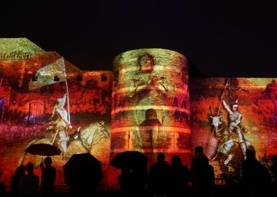 Angers, château d'Angers, mapping, azarek,2019 3
