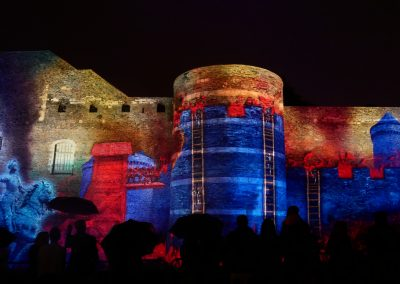 Angers, château d'Angers, mapping, azarek,2019 4