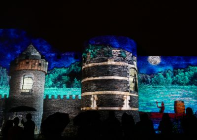 Angers, château d'Angers, mapping, azarek,2019 7