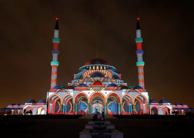 SLF MOSQUE - SHARJAH LIGHT FESTIVAL - MOSQUE- AZAREK - MAPPING 01